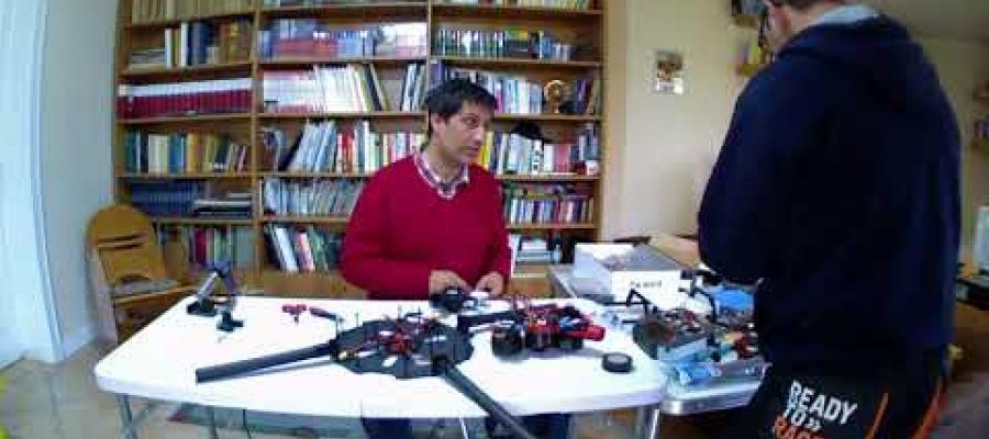 Time-lapse montaggio drone professionale